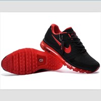 NIKE fashion casual shoes sports shock absorbing running shoes Black and red