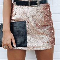 Perfect Sequin Chic Skirt