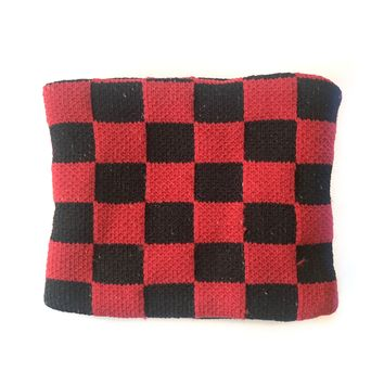 Deadstock Black & Red Checker Wristband