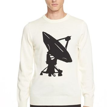 Men's J.W.ANDERSON Satellite Graphic Merino Wool Sweater,