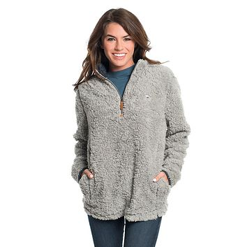 Sherpa Pullover with Pockets in High Rise by The Southern Shirt Co. - FINAL SALE