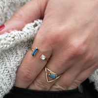Dulce Baguette Crystal Ring