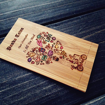 Engraved Wallet Insert Card , Personalized Wallet Insert Card , Wood Wallet Insert Card , Wallet Insert Card in Handmade , Valentine