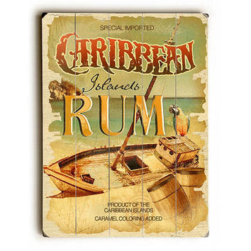 Caribbean Rum by Artist Lynne Ruttkay Wood Sign