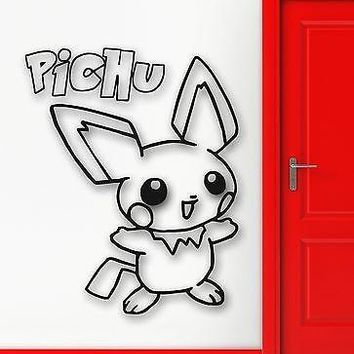 Wall Stickers Vinyl Decal Pokemon Anime Manga Cartoon Kids Baby Room (ig1099)
