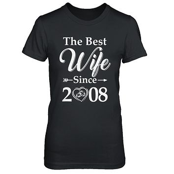 10Th Married Together Anniversary Since 2008 Husband Wife