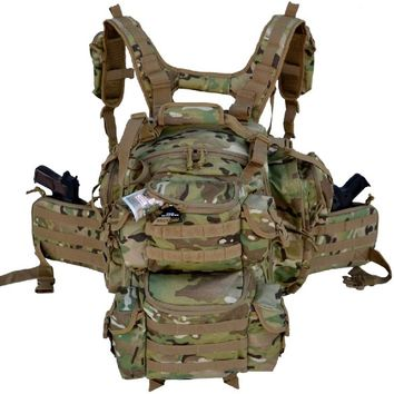 "Patrick Backpack - 20"" Military Molle Backpack 56L (Multi)"