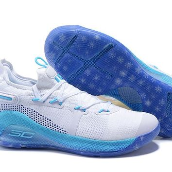Under Armour Curry 6 - White/Light Blue