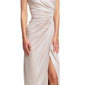 Petite Lace Jersey Gown - Adrianna Papell