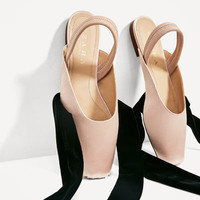 SLINGBACK BALLERINAS WITH SATEEN RIBBONS DETAILS