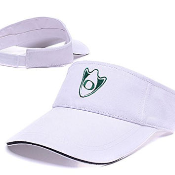 ZHHUA Oregon Ducks Logo Adjustable Embroidery Tennis Golf Baseball Hat Sun Visor Cap White