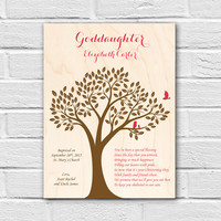 Goddaughter Gift, Godson Gift, Gift for Goddaughter, Personalized Baptism Gift, Christening Gift, Baptism Wall Art, Gift from Godparents