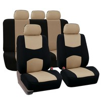 Auto Car Seat Cover Set Car Seat Covers Full Set Universal Fit Interior Split Bench Cover