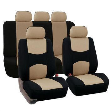 Auto Car Seat Cover Set  Full Set Universal Fit Interior Split Bench Cover