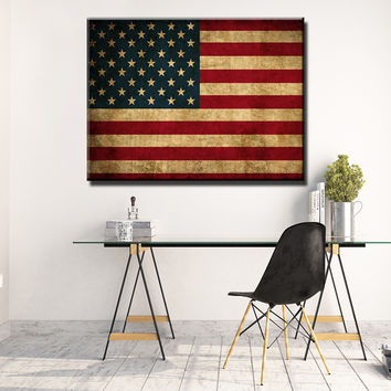 Rustic American Flag Wooden Wall Decor
