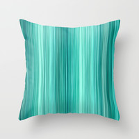 Ambient 5 Teal Throw Pillow by Bruce Stanfield
