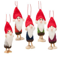 Wooly Gnome Ornaments