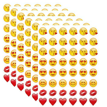 New 48 Die Cut Emoji Smile Sticker for Laptop for notebook message*High Quality Vinyl*funny*creative