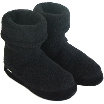 Polar Feet® Women's Snugs™ Black Berber