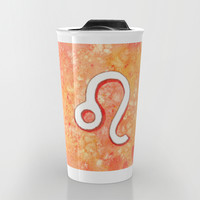 Zodiac sign : Leo Travel Mug by Savousepate