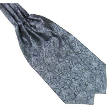 Men's Gray Paisley Gentleman Collection Ascot/Cravat Tie