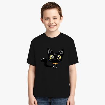 Adorable-Black-Cat Youth T-shirt | Customon.com