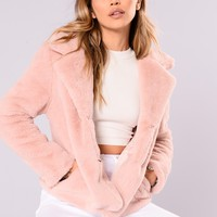 Marcee Faux Fur Jacket - Pink