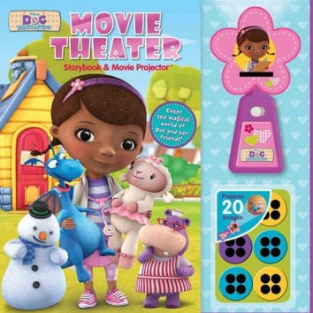Disney Doc Mcstuffins Movie Theater Storybook + Movie Projector (Movie Theater)