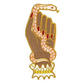 Snake Hand Large Patch - Brown