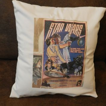 Star Wars Throw Pillow Cover Star Wars Movie Poster Decorative Media Room Pillow