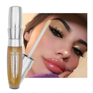 Makeup 3D Sexy Super Volume Plump it Lip Gloss Moisturizer Shiny Liquid Lipstick Long Lasting Lip Sense Korean Cosmetic