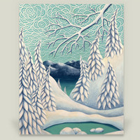 Winter Lagoon Art Print by Tlb on BoomBoomPrints