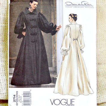 Uncut Vogue 2714 Coat Dress Pattern // Oscar de la Renta design // Wedding coat dress // Formal coat dress