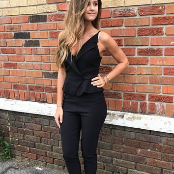 Dressed In All Black Jumpsuit