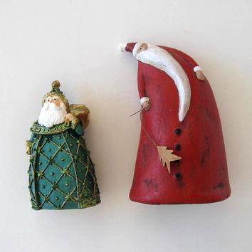Vintage Santa Claus Figurines, Ceramic, Home Decor, Christmas ornaments