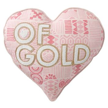 Empowerment Pillow, Heart Of Gold