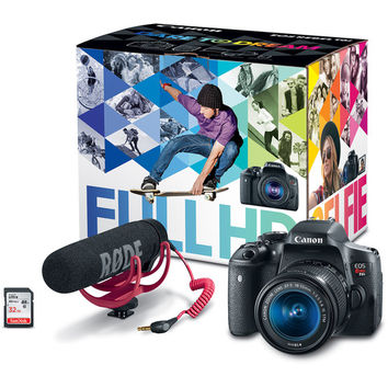 EOS Rebel T6i DSLR Camera with 18-55mm Lens Video Creator Kit