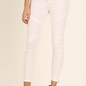 Moto Zipper Jeggings