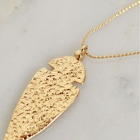 Arrow There Necklace Gold