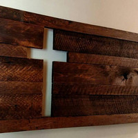 Cutout Rustic Cross Wall Art - Reclaimed Wood Cross Wall Art - Country Cross Wall Art - Religious Wall Art - Wood Wall Art - Rustic Wall Art