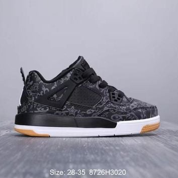 "Air Jordan 4 SE Laser ""Black Gum"" Toddler Kid Shoes Child Sneakers - Best Deal Online"