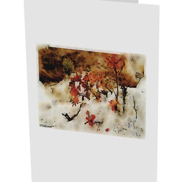 "CO Painted Mines Watercolor 10 Pack of 5x7"" Side Fold Blank Greeting Cards"
