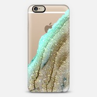 FLAWLESS AQUA FAUX GOLD by Monika Strigel iPhone 6 plus iPhone 6 case by Monika Strigel | Casetify