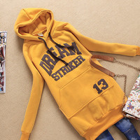 New Arrival Long Fleece Thickened Women Hoodie just one size free shipping