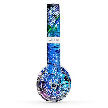 The Black & Bright Color Floral Pastel Skin Set for the Beats by Dre Solo 2 Wireless Headphones