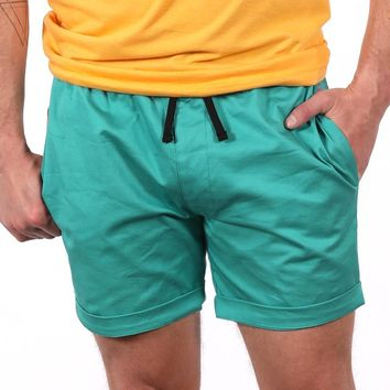 The 'Paradise' Stretch Twill Short in Aqua Blue Sizes S & M Available