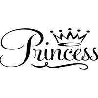 Princess wall decal with crown.  Wall Decal Words Quote Sticker  WW3026