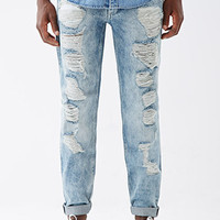 Destroyed Light Wash - Slim Fit Jeans