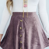 Hear You Calling Skirt: Dusty Purple