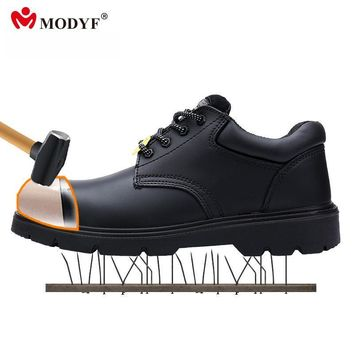 Modyf Army boots for Men oxford steel toe cap shoes Military outsole high quality leat